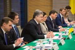 Petro Poroshenko in Tokio. TOKYO, JAPAN - Apr 06, 2016: President of Ukraine Petro Poroshenko during his meeting with Japanese Prime Minister Shinzo Abe in Tokyo Stock Images