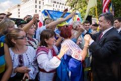 Petro Poroshenko with Ukrainian community in Washington Royalty Free Stock Photography