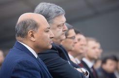 Petro Poroshenko y Suma Chakrabarti Fotografía de archivo libre de regalías