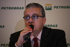 Petrobras在2015年宣布记录损失 免版税图库摄影