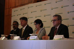 Petrobras在2015年宣布记录损失 免版税库存照片
