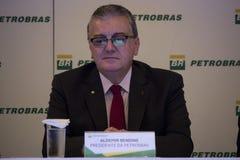 Petrobras在2015年宣布记录损失 库存照片