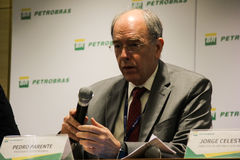 Petrobras announces new pricing policy for fuels in Brazil. Rio de Janeiro, Brazil, October 14, 2016: Pedro Parente, president of Petrobras partecipates in Media stock images