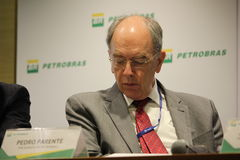 Petrobras announces new pricing policy for fuels in Brazil. Rio de Janeiro, Brazil, October 14, 2016: Pedro Parente, president of Petrobras partecipates in Media royalty free stock images
