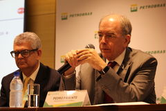 Petrobras announces new pricing policy for fuels in Brazil. Rio de Janeiro, Brazil, October 14, 2016: Pedro Parente, president of Petrobras partecipates in Media stock photos