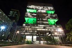 Petrobras Building In Rio De Janeiro At Night Stock Image