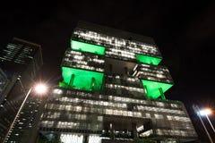 Petrobras Building In Rio De Janeiro At Night Royalty Free Stock Image