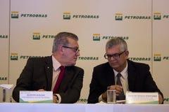 Petrobras kündigt Rekordverlust im Jahre 2015 an Stockbild