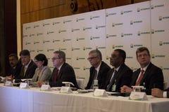 Petrobras kondigt verslagverlies in 2015 aan Stock Afbeelding