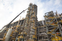 Petrochemical or chemical plant structure and design. With sky cloud Royalty Free Stock Photography