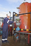 Petrochemical contractor posing to camera Stock Photo