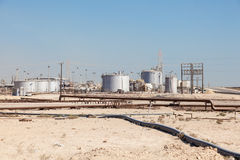 Petrochemical facilities in the desert Royalty Free Stock Images