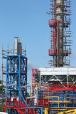 Petrochemical factory construction site Stock Images