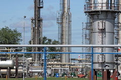 Petrochemical factory detail Royalty Free Stock Photo