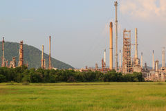 Petrochemical factory in green field Stock Photography