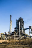 Petrochemical factory. A part of petrochemical factory under blue sky Royalty Free Stock Images