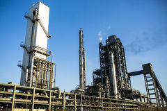 Petrochemical factory. A part of petrochemical factory under blue sky Stock Photography