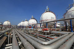 Petrochemical gas storage tank Royalty Free Stock Photography