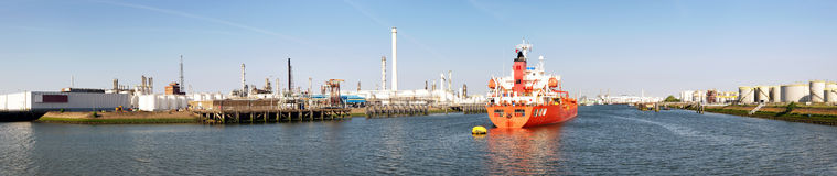 Petrochemical Harbor Stock Image