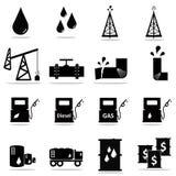 Petrochemical icon set Stock Photo
