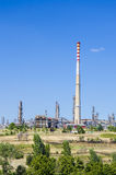 Petrochemical industrial chimney. Rafinery chimney- Stock Image. petrochemical industrial plant Royalty Free Stock Images