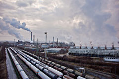 Petrochemical industrial complex Stock Image