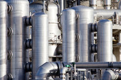 Petrochemical industrial plant Royalty Free Stock Image