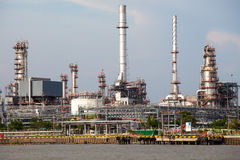 Petrochemical industrial plant in Bangkok Royalty Free Stock Image