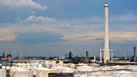 Petrochemical industrial plant Royalty Free Stock Photography