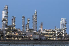Petrochemical industrial plant Royalty Free Stock Photos