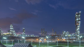 Petrochemical industrial plant at dusk. Petrochemical industrial plant at dusk royalty free stock photos