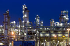 Petrochemical industrial plant Stock Photos