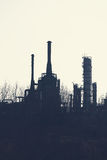 Petrochemical Industrial Plant. Or oil rafinery Royalty Free Stock Image