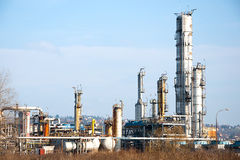 Petrochemical Industrial Plant. Or oil rafinery Royalty Free Stock Images