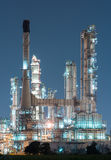 Petrochemical industrial plant power station. At dark of Thailand stock images