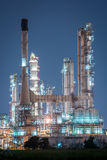 Petrochemical industrial plant power station. At dark of Thailand stock photo