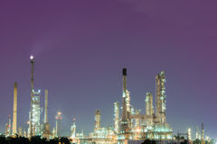 Petrochemical industrial plant power station Royalty Free Stock Images