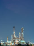 Petrochemical industrial plant power station. At dark of Thailand royalty free stock images
