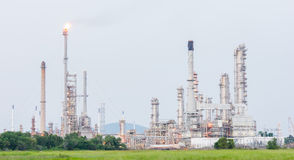 Petrochemical industrial plant power station. At day of Thailand Stock Image