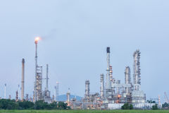 Petrochemical industrial plant power station. At day of Thailand royalty free stock photo