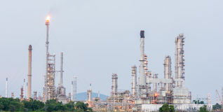 Petrochemical industrial plant power station. At day of Thailand stock photography