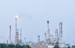 Petrochemical industrial plant power station. At day of Thailand Royalty Free Stock Photography