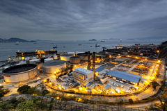 Petrochemical industrial plant Royalty Free Stock Images