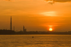 Petrochemical industrial plant in Thailand Stock Images