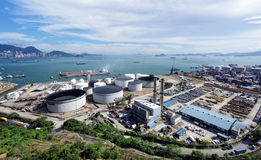Petrochemical industrial plant Stock Image
