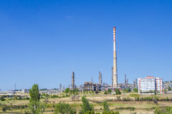 Petrochemical industrial rafinery chimney Stock Image