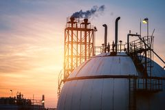 Gas storage Stock Photos