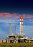 Petrochemical industry. Gas and oil factory Stock Image
