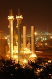 Petrochemical industry. During sunset in thailand royalty free stock photos