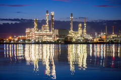 Petrochemical industry night scene Royalty Free Stock Photography